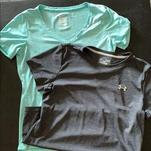 DriFit shirts, mintgreen Nike and gray UnderArmour